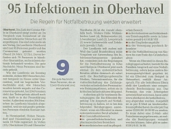 95 Infektionen in Oberhavel